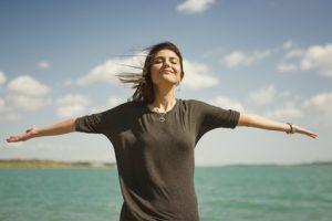 woman in zen moment