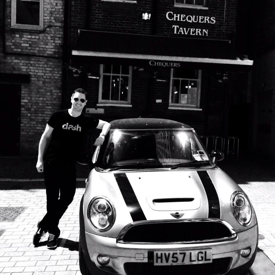 Dash Founder Jamyn Edis with car
