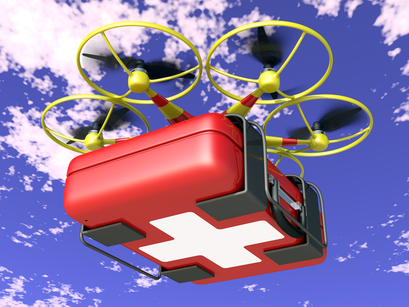 Drones bringing Services to people