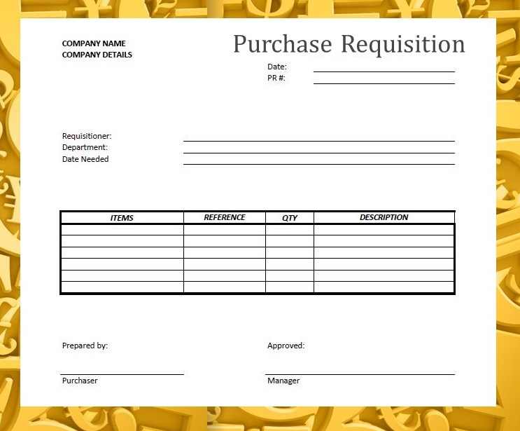 Forms documents needed for proper accounting for It purchase request form template