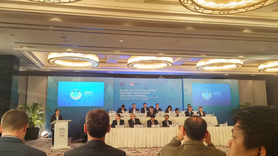 Ministers and High-level Officials gathered for the Joint Press Conference during the 2nd APEC Structural Reform Ministerial Meeting