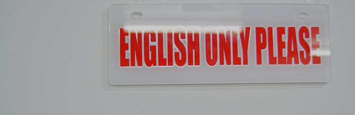 english only please
