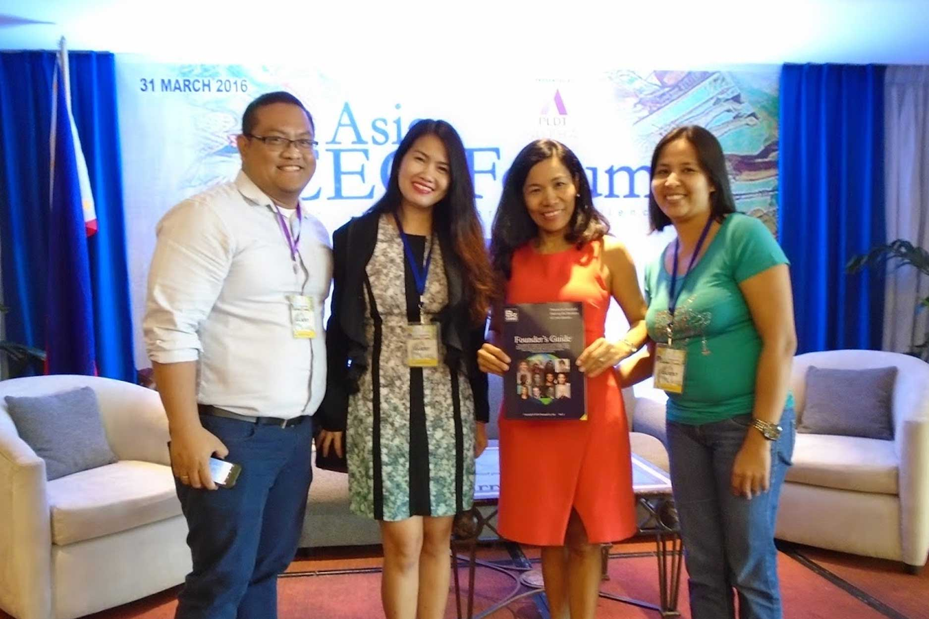 Founder's Guide Team with Asia CEO President Rebecca Bustamante