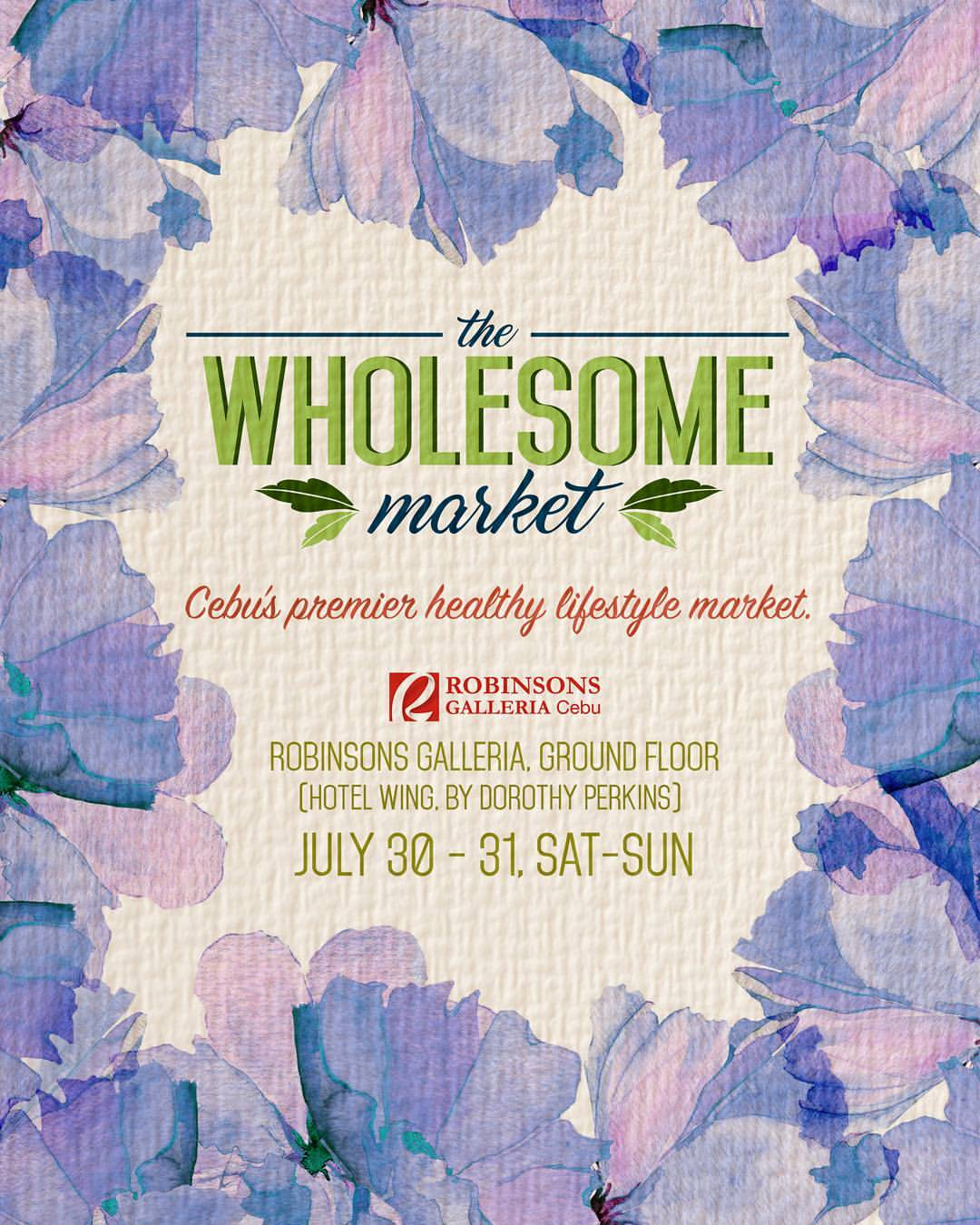 the wholesome market cebu july event