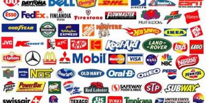 a collection of logos and brand names