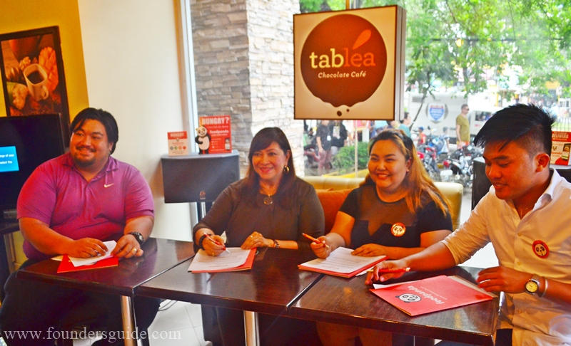 Bayani Jess Lopez Garcia, Corporate Sec. Tablea, Armi Lopez-Garcia, CEO of the Tablea Chocolate Cafe, Hendy Abendan, Accounts Manager and Automation Specialist of Foodpanda, Andrew Jamandre, Head of sales and account FoodPanda