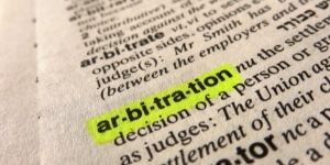 Examples Containing Arbitration in a Sentence